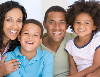 Happy family after laser dentistry treatment in Fairfax